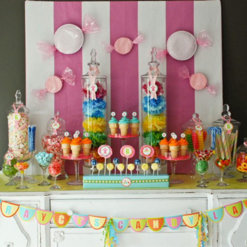 graphic about Printable Candyland Cards named Sweet Land Influenced Birthday Occasion Printables Selection