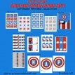 Super Hero Captain Printable Collection