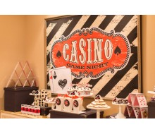 Casino Night Poker Party Printable 36x48 Poster - Instant Download