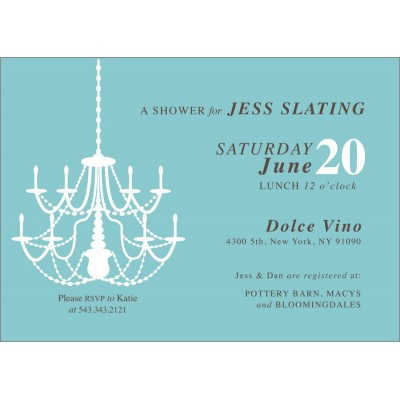 Tiffany's Inspired Chandelier Bridal Shower Printable Invitation