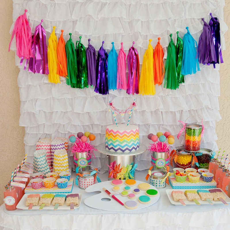 Chevron arts and crafts party printables collection for Arts and crafts party