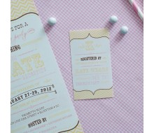 Vintage Pink and Gold Chevron Bridal Shower or Bachelorette Party Printable Registry Enclosure Card