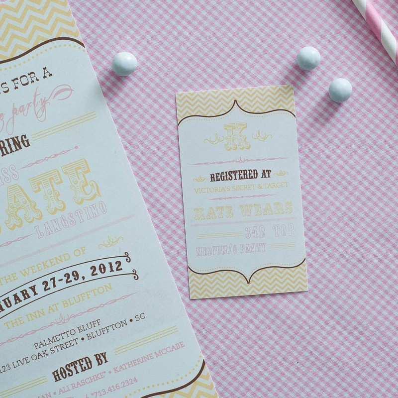 Pink and Gold Chevron Bridal Shower or Bachelorette Party ...