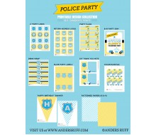 Chevron Police Birthday Party Printables Collection