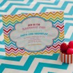 Chevron Rainbow Birthday Party Printable Invitation