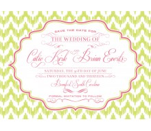 Chevron Ikat Elegant Wedding Save the Date Card Printable