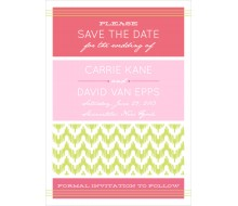 Chevron Ikat Modern Wedding Save the Date Card Printable