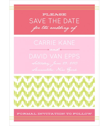 Chevron ikat modern wedding save the date card printable for Printable save the date cards