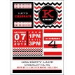 Chevron Stripes and Polka Dots Printable Party Invitation - Choose Your Colors