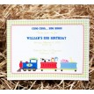 Choo Choo Goes to the Farm Printable Invitation
