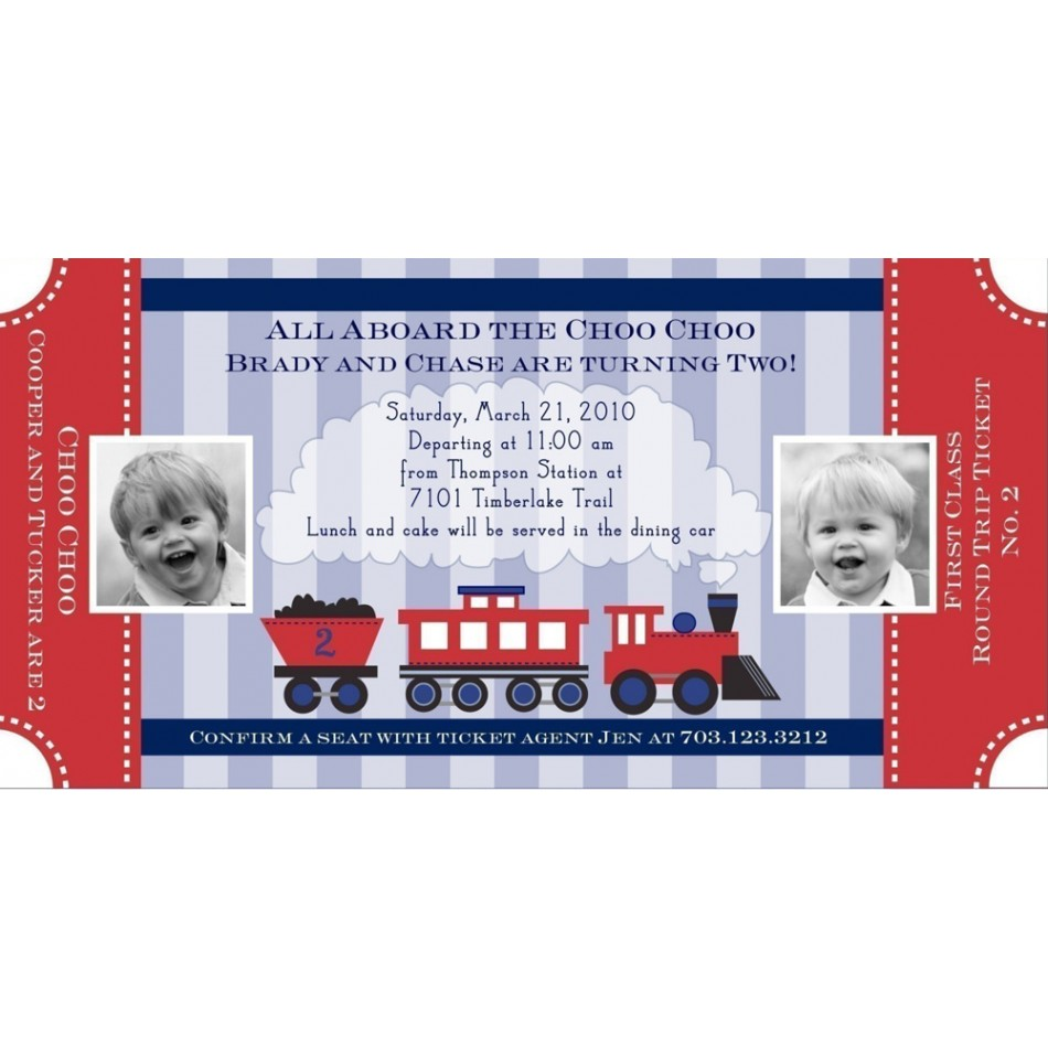 Personalized Thomas The Train Invitations with good invitation ideas