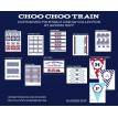 Choo Choo Train Birthday Party Printables Collection - Red Aqua