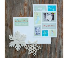 Color block Winter Wonderland Printable Photo Holiday Card