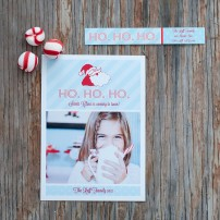 Santa HO HO HO Printable Photo Holiday Card