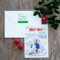Holly Jolly Stripes Printable Photo Holiday Card