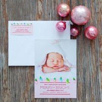 Christmas Lights Merry and Bright Printable Photo Holiday Card