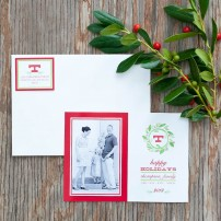 Elegant Wreath Printable Holiday Photo Card