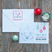 Retro Ornaments - Red & Green Printable Photo Holiday Card