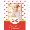 Polka Dot Printable Holiday Photo Card - Red