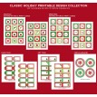 Classic Holiday Christmas Printable Party Collection - Instant Download