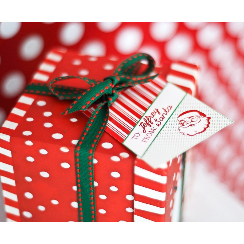Vintage Santa Printable Personalized Gift Tags The