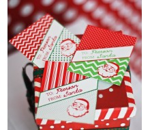 Vintage Santa Printable Personalized Gift Tags - The Classic Christmas Collection