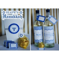 Happy Hanukkah Printables - DIY Holiday Printable Package - Instant Download