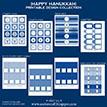 Happy Hanukkah Printables - DIY Holiday Printable Package - Instant Download