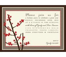 Holiday Berries Christmas Party Printable Invitation