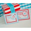 Vintage North Pole Printable Christmas Stamp Gift Tags - Instant Download