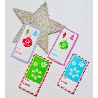 Vintage Christmas Printable Rectangular Gift Tags - Instant Download