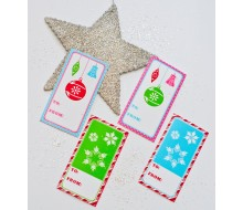 Vintage Christmas Printable Rectangular Christmas Gift Tags - Instant Download