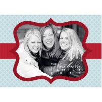 Christmas Photo Holiday Printable Card - Blue
