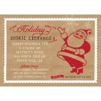 Santa Cookies Exchange Party Christmas Holiday Printable Invitation