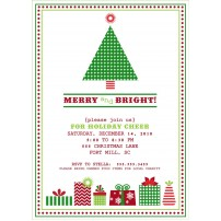 Classic Christmas Tree Holiday Party Printable Invitation
