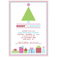 Vintage Christmas Tree Holiday Party Printable Invitation