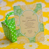Citrus Lemon and Lime Printable Invitation