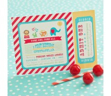 Classic Circus Birthday Party Printable Invitation
