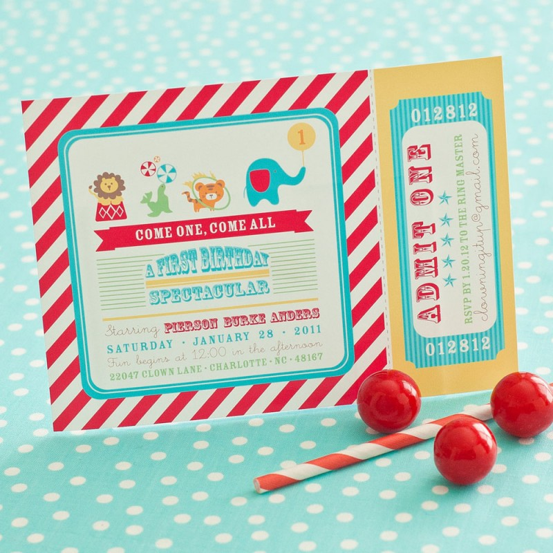circus birthday party printable invitation, Birthday invitations