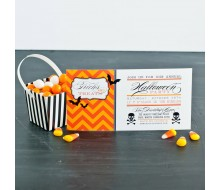 Classic Halloween Party Printable 4x8 Invitation