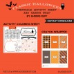 Classic Halloween Design Kit - Printable Coloring Activity Page and Crayon Wrap - Instant Download