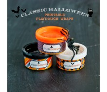 Classic Halloween Design Kit - Printable Boo Dough Playdough Wrapper - Instant Download
