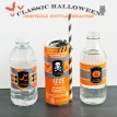 Classic Halloween Design Kit - Printable Drink Bottle Wrappers - Instant Download