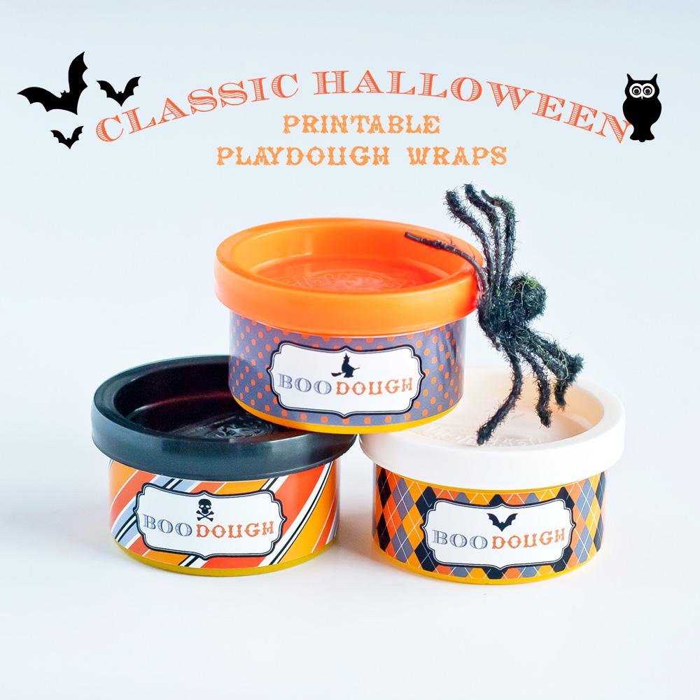 Classic Halloween Design Kit Printable Boo Dough
