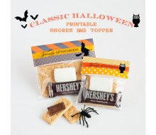 Classic Halloween Design Kit - Printable Spooky S'mores Bag Toppers - Instant Download