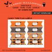 Classic Halloween Design Kit - Printable Candy Flag Label - Instant Download