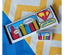 Vintage Comic Book Super Hero Printable Chocolate Bar Wrappers