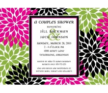 Contemporary Floral Printable Invitation - Pink Lime