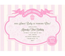 Country Chic Sweet Shoppe Printable Birthday Party Invitation