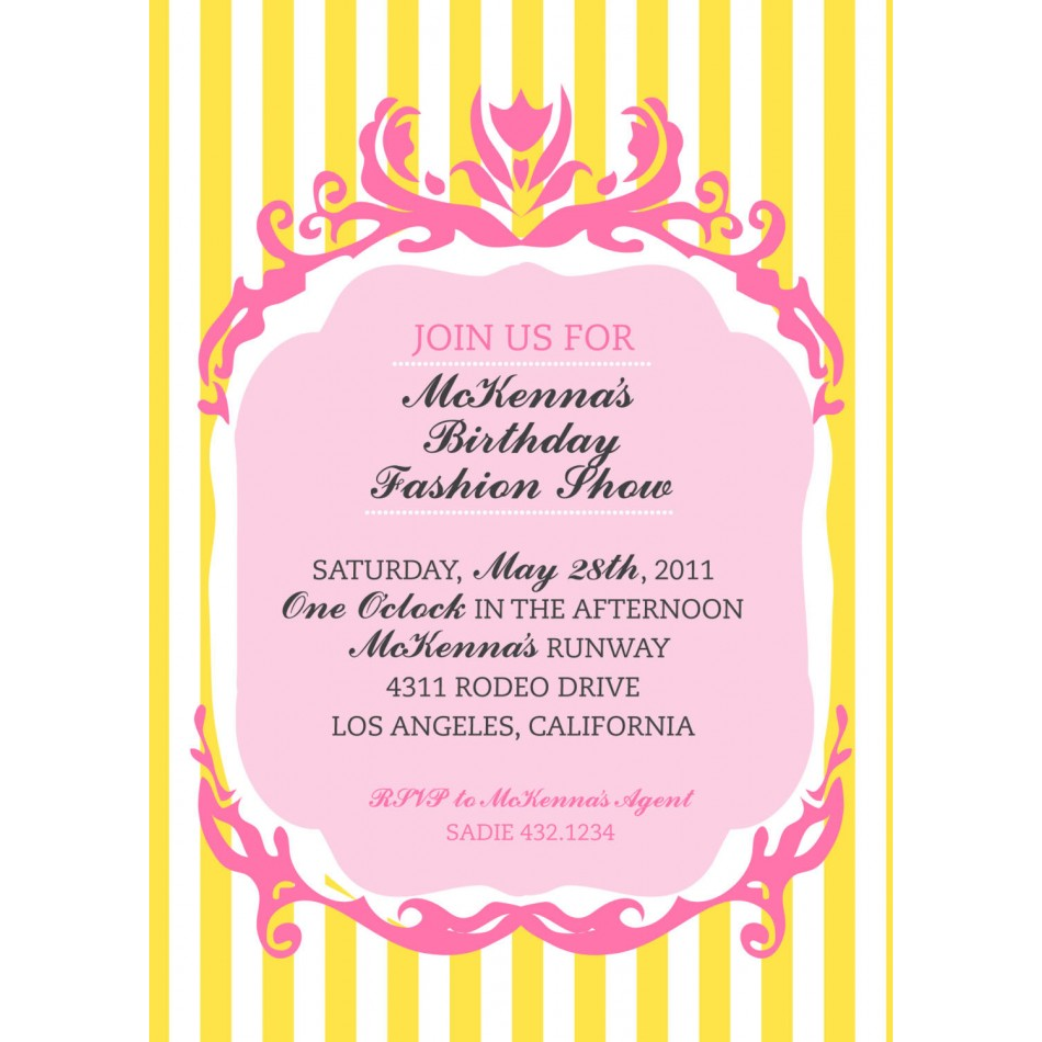 fashion show invite template